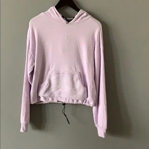 Wild Fable Lilac Purple Fuzzy Pullover Hoodie SZ M
